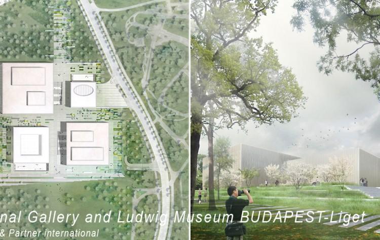 Wettbewerb Budapest Museeum Parkanlage