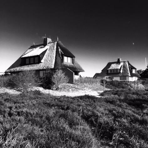 Häuser in den Dünen
