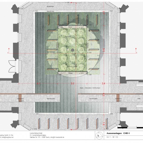 Hof 1. Entwurf